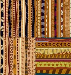 Set of color patterns primitive tribal pattern vector image vector image