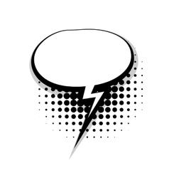 Template comic speech oval lightning bubble vector image