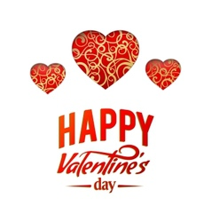 Valentine Heart Symbol vector image vector image