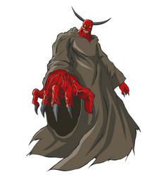 a demon or devil figure vector image