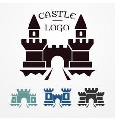 Castle logo set vector