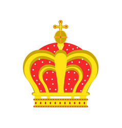 crown king queen isolated icon royal design vector image