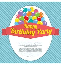 Happy Birthday Party Card vector image vector image