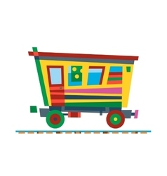 Railway train carriage vector image vector image