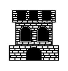 Spanish castle shield isolated icon vector image