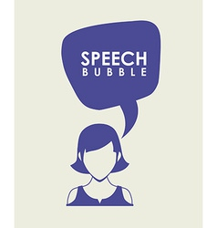 speech bubbles communication vector image vector image