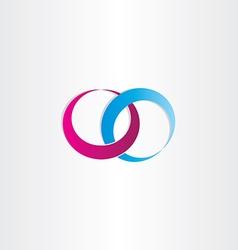 wedding rings love symbol vector image