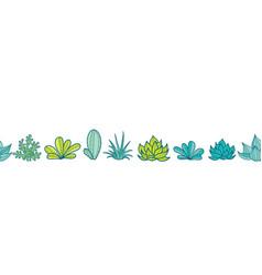 blue green seamless horizontal repeat vector image vector image