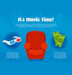 cinema time flyer vector image