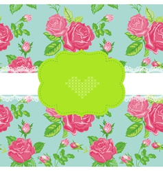Floral Shabby Chic Card vector image vector image