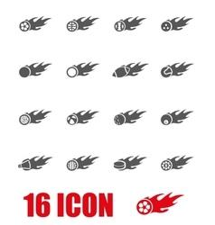 grey file sport balls icon set vector image
