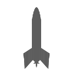 Starting rocket sign vector image vector image