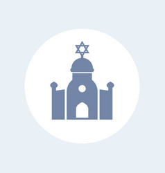 synagogue icon isolated on white vector image vector image