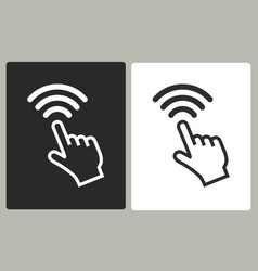 touch - icon vector image vector image