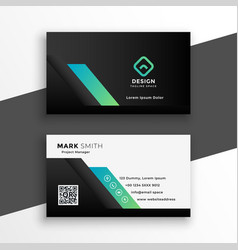 Abstract pro geometric business card template vector