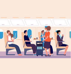 airline service human transportation stewardess vector image