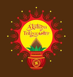 akshaya tritiya offer template design vector image