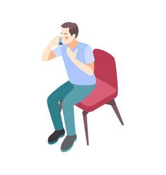 Allergy isometric icon vector