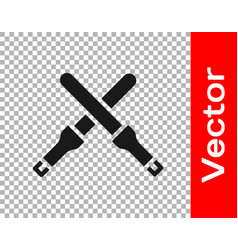 Black marshalling wands for aircraft icon vector