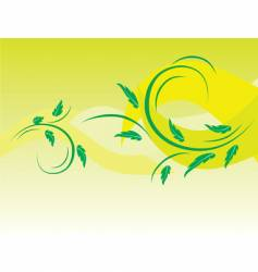 botanical background of green leaves vector image