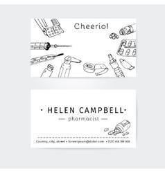 Business cards design template for medical advisor vector