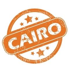 Cairo round stamp vector