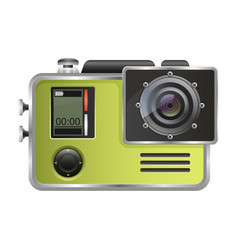 Camera action cam isolated on white vector