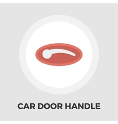 Car door handle flat icon vector