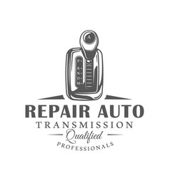 car service label isolated on white background vector image