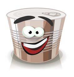 cartoon food can character vector image
