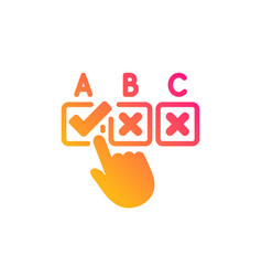 Correct checkbox icon select answer sign vector