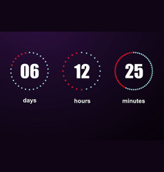 countdown template digital clock vector image