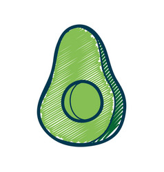 Delicious slice pear healthy fruit vector