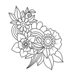 Doodle art flowers vector