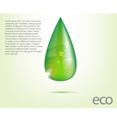 Ecology Design Element Drawing vector image