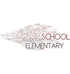 Elementary word cloud concept vector