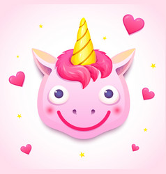 Emoji unicorn face vector