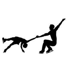 Figure skating pair vector