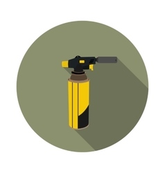 flat icon gas torch for soldering vector image