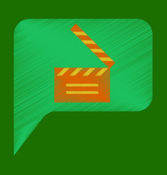 flat icon in shading style film slapstick vector image