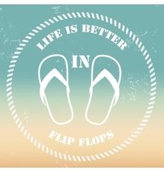 Flip flopsvintage background vector