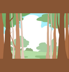 Forest trees landscape background vector