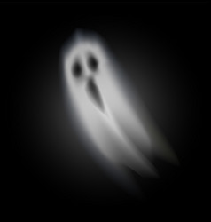 Ghost of halloween opened mouth isolated vector