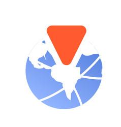 Globe travel agency icon cartoon style vector