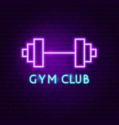 gym club neon label vector image