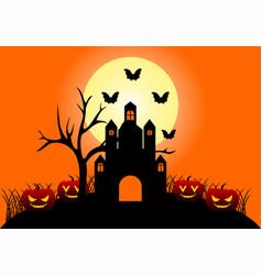 halloween design logo vector image