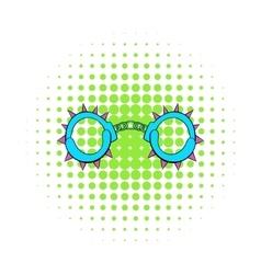 Handcuff icon in comics style vector image
