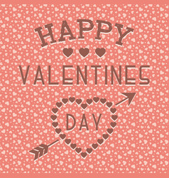 happy valentines day background seamless vector image