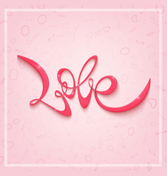 happy valentines day greeting card banner vector image