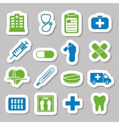 hospital stickers vector image